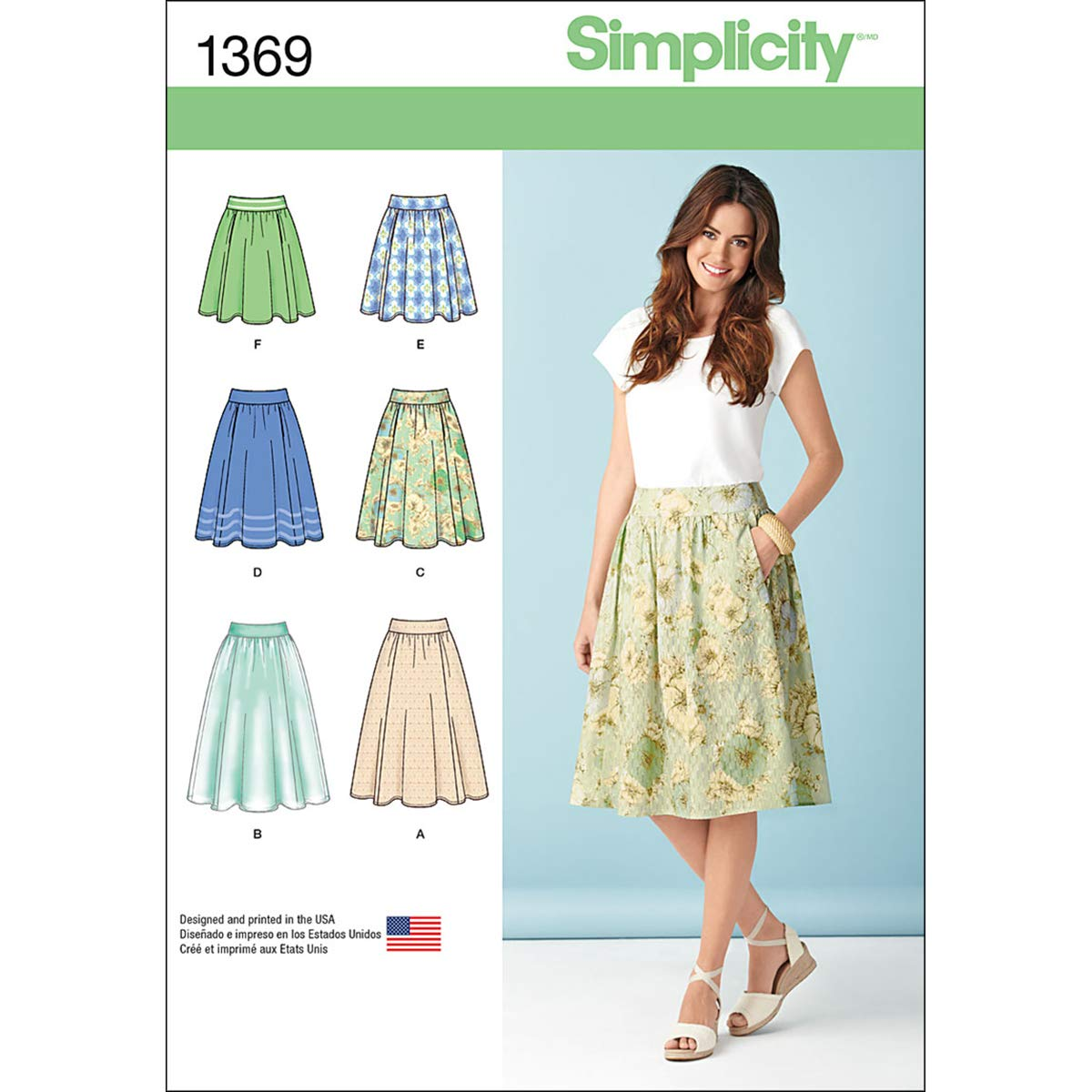 Amazon.com: Simplicity Pattern 1369 Misses Skirt in Three Lengths Sizes  6-8-10-12-14: Arts, Crafts & Sewing