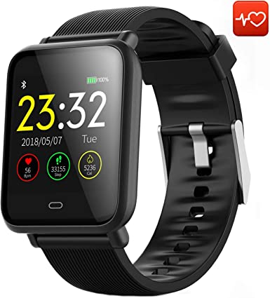 CanMixs Smart Watch CM07 Impermeable IP67 Actividad Fitness Tracker Reloj con monitor de ritmo cardíaco Podómetro Sleep Monitor Cronómetro SMS Notificación de llamadas Cámara remota Música iOS Android: Amazon.es: Electrónica