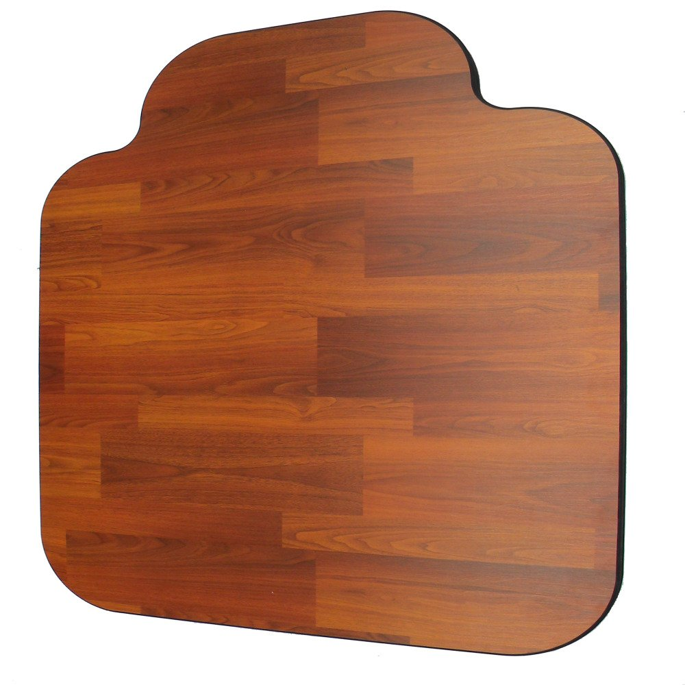 Laminate Chair Mat -Walnut-46x55 with Single Lip