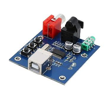 Kongqiabona PCM2704 Audio DAC USB a S/PDIF Tarjeta de Sonido HiFi ...