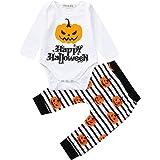 Tefamore Halloween Kürbis Brief Drucken Strampler und Hosen