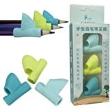 Pencil Grip,Manadlian Los niños Lápiz Soporte pluma escritura ayuda agarre postura corrección nuevo herramienta 3 piezas/set (B)