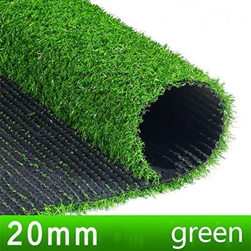 GAPING 人工的な草は密度の厚さの偽のデラックスな総合的でより厚い芝生ペット芝生を増加させます屋内 - 屋外の景色のために4色で利用できる (Color : Green, Size : 2x4m)