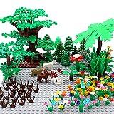 ZHX Garden Park Building Block Parts Botanical Scenery Accessories Plant Set Building Bricks Toy Trees Flowers Compatible All Major Brands