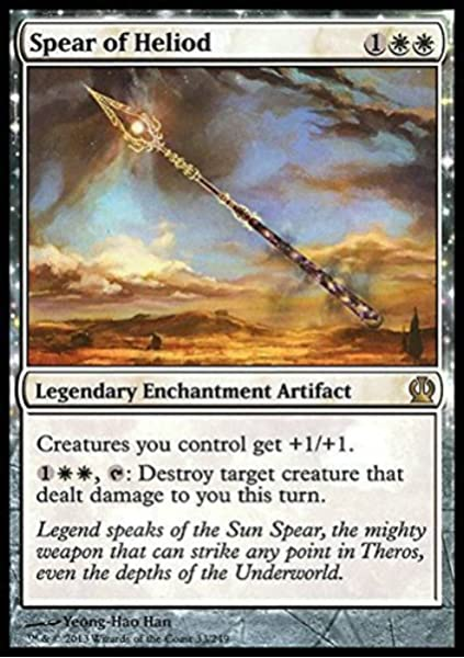 Amazon Com Magic The Gathering Spear Of Heliod 33 249 Theros Toys Games