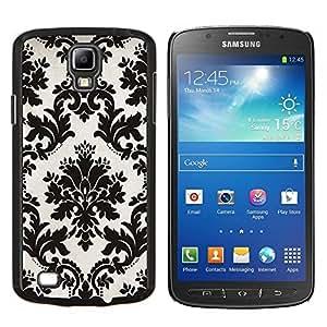 Stuss Case / Funda Carcasa protectora - Blanco Negro con clase elegante elegante - Samsung Galaxy S4 Active i9295