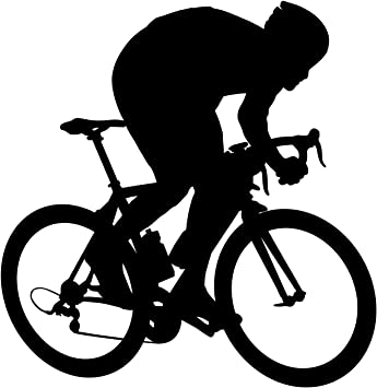 Bicicleta Pared Adhesivo 6 – adhesivo mural de pegatinas y para niños, niñas, sala de estar y dormitorio. Deporte Arte de Pared para decoración para el hogar y decoración diseño de silueta