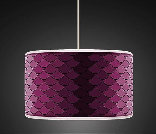 Lámpara de techo, 40 cm, color morado, lila y lila, retro ...