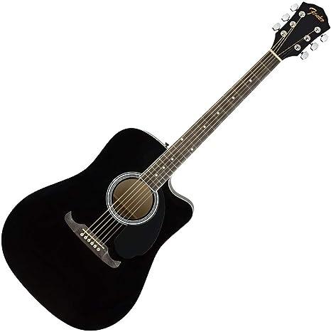 Fender FA-125CE BLK · Guitarra acústica: Amazon.es: Instrumentos ...