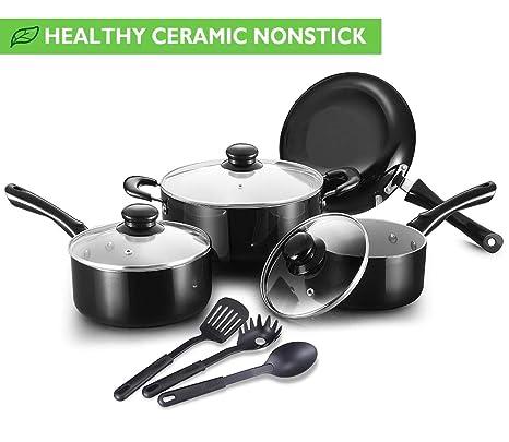 Amazon.com: Juego de utensilios de cocina. Mejores ollas y ...