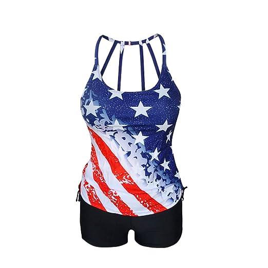 17e3881f879 Amazon.com: Simayixx Womens Two Piece Bathing Suits USA Flag Printed Tank  Tops Bikini Ladies Tankini Set Boyshort Two Piece Swimsuit: Clothing
