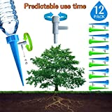 FEMST Plant Self Watering Spikes Bulbs Globes Stakes System Vacation Plant Waterer Nannies Pot Self Drip Irrigation Slow Release Devices Care Your Indoor & Outdoor Home and Office Plants (12pack)