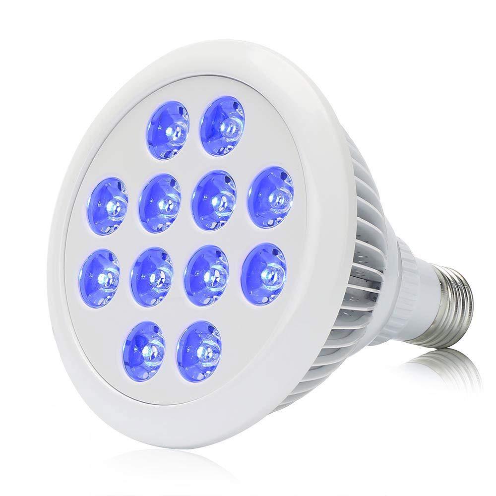 Esbaybulbs 36W Blue LED Plant Grow Light Bulb for Greenhouse Indoor Plant Flower Veg Seeding