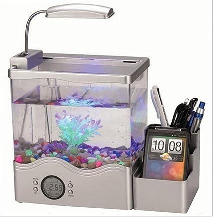 Cutepet LED Pecera Vertex Acuario Kit Para Pescado Y Camarones Con Filtrotermómetro 30*19*