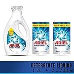 Ariel Ariel Regular Detergente Líquido Concentrado 1.2lts + 2 Refills De 600ml Con U, 2.4lts En Total, Pack of 1
