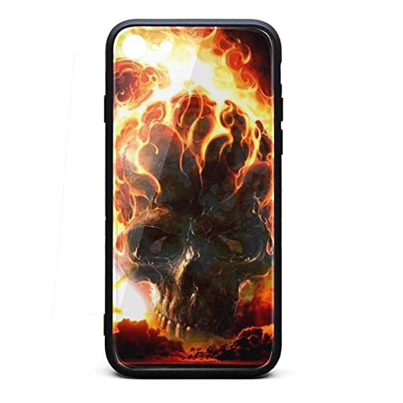 Amazoncom Mobile Iphone 6s Case Flames Skull Fire