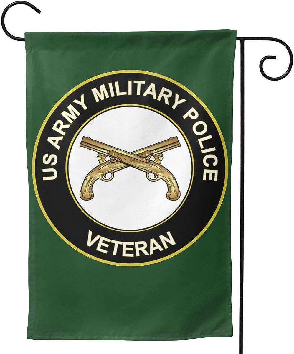 Q7yyg US Army Veteran Military Police Double-Sided Decorative Garden Flag Home House Flag -12.5x18inch   28x40inch