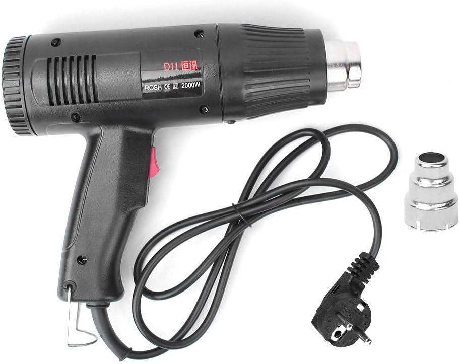 Pistola de Calor, Pistola de Aire Caliente de 2000 W Pistola de Aire de Temperatura Constante de Grado Industrial 650 ℃ Enchufe de la UE 220 V para Manualidades de Envoltura