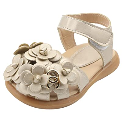 Baby Girls First Walkers Sunflower Closed-Toe Sandals