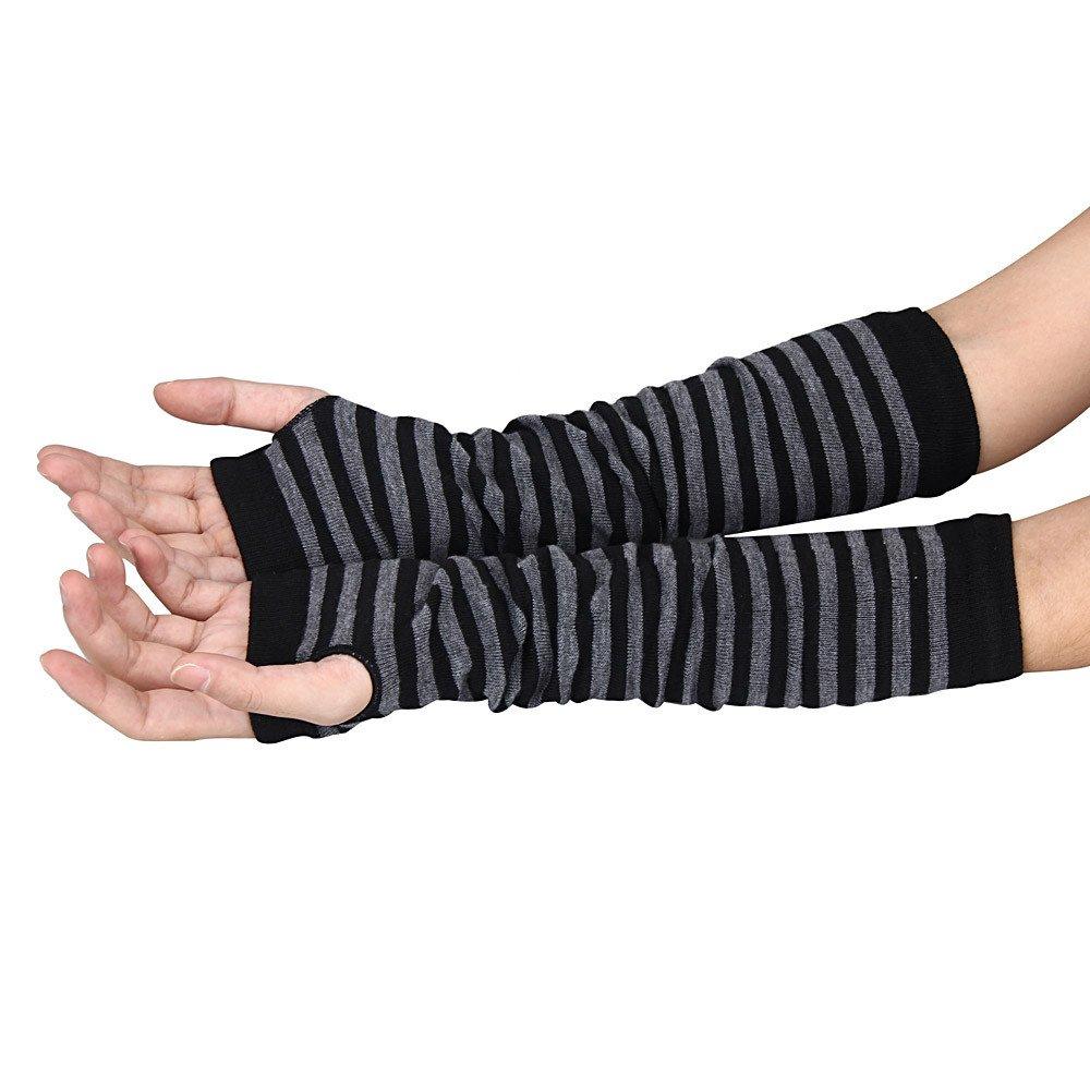 VENMO Winter Handgelenk Arm Handwärmer gestrickte lange fingerlose Handschuhe Handschuh Fingerhandschuhe Strickhandschuhe Winterhandschuhe Fleecefutter Fingerlose Handschuhe Halbfinger