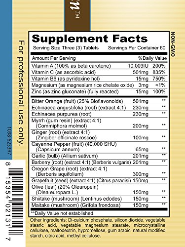 Priority One Vitamins Super Bio Vegetarian 180 Tablets - Immune System Support*- Clinical Strength - Benefits of Shiitake & Maitake Mushrooms. by Priority One Nutritional Supplements (Image #3)