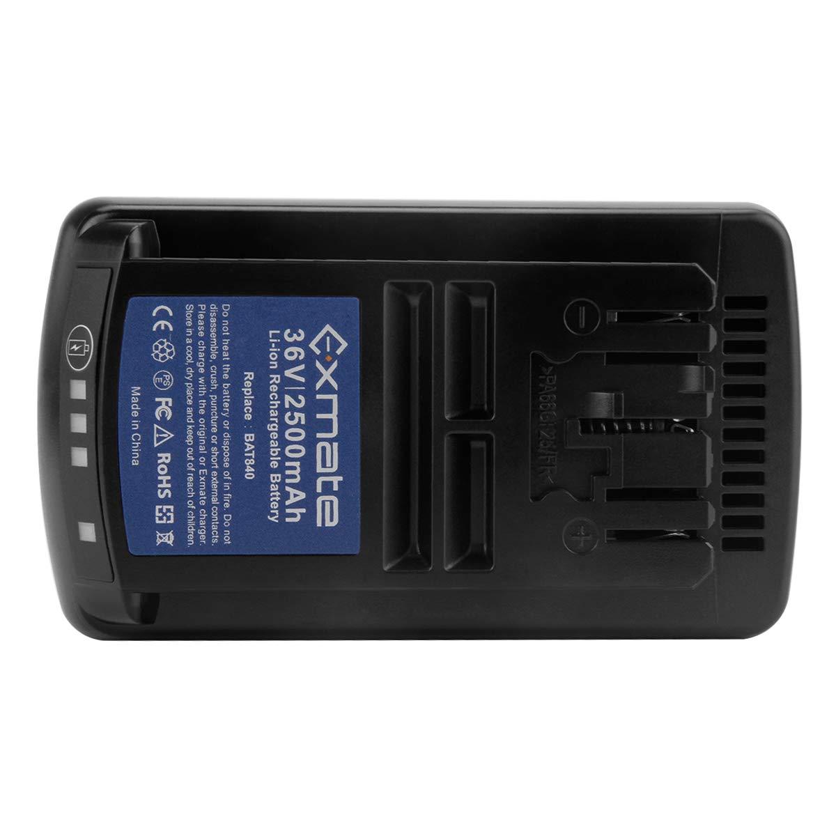 Exmate Batería de repuesto de iones de litio 36V 2500mAh para ...