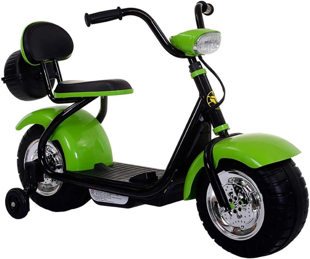 W&HH Triciclo Eléctrico para Bebés, Coche De Juguete para Niños Y Niñas con Música, Motocicleta Eléctrica con Ruedas De Entrenamiento para Niños Y Niñas De 3-8 Años.