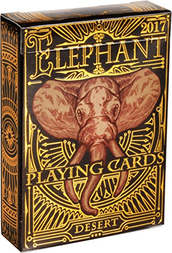 ELEPHANT PLAYING CARDS, Premium Deck of Cards, Cool Intricate Detail, Best Poker Cards, Unique Bright Rainbow & Red Colors for Kids & Adults, Playing Card Decks Games, Standard Size ()