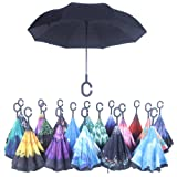Amazon Price History for:Double Layer Wind Proof,UV Proof Reverse Folding Inverted Umbrella Travel Umbrella with C Shape Handle and Carrying Bag