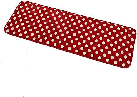 Amazon Com Kitchen Rug Set Runner Mat Floor Mats Bathroom Rugs Soft Doormat With White Dot For Bedroom Living Room 15 7 47 2 Red 40120 Dining