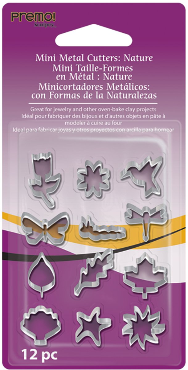 Sculpey AMMCNT premo! Mini Metal Cutters: Nature, 12 Pc Polyform Products 481535