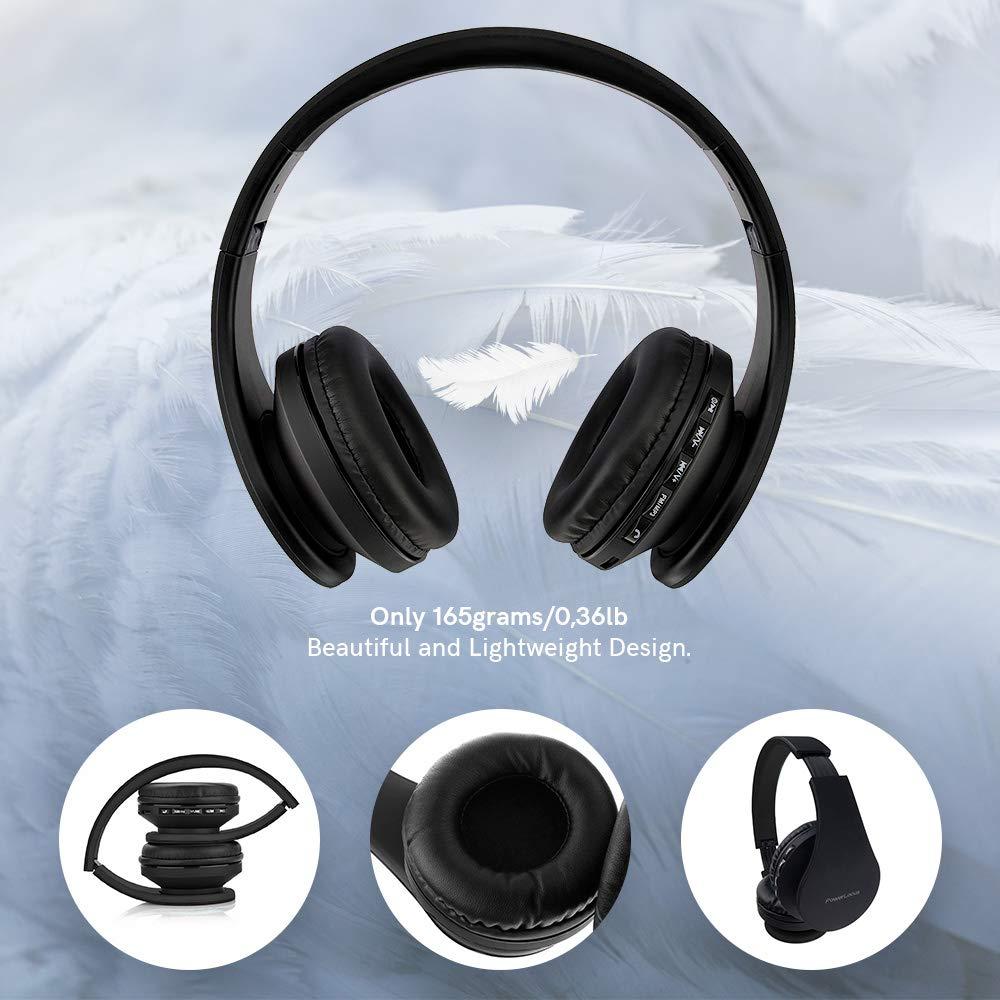 Casco Bluetooth con Sonido Est/éreo con Conexi/ón a Bluetooth Inal/ámbrico y Cable para Movil PowerLocus P1 Negro//Azul Tablet Auriculares Bluetooth inalambricos de Diadema Cascos Plegables PC