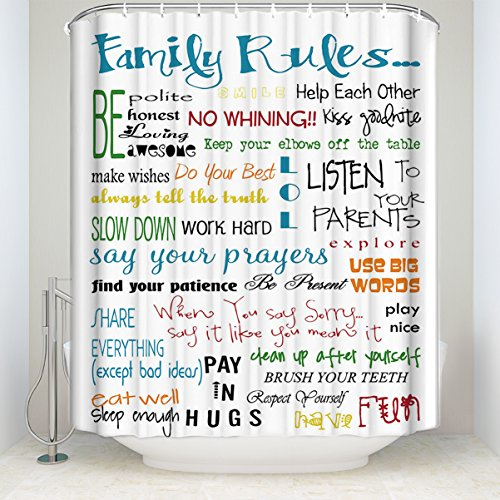 family rules educational waterproof fabric
