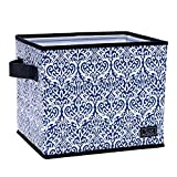 SCOUT Hang-10 Bin Collapsible Medium Storage Bin, Holds Hanging Files, Reinforced Bottom, Folds Flat, Water Resistant, Royal Highness