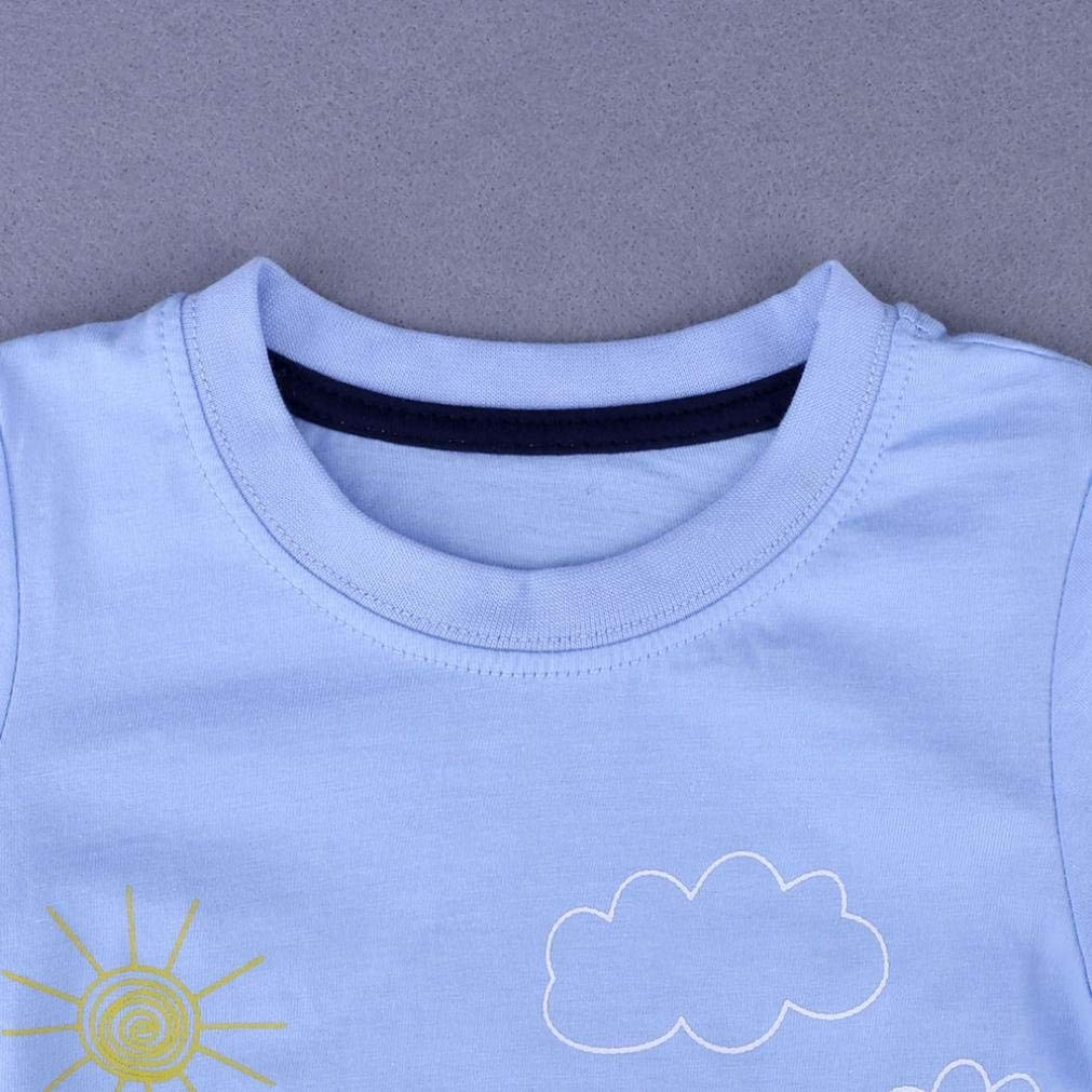 Cute Toddler Baby Clothes Baby Boys Girls Clothes Organic Tee Cartoon T Shirts Layette Tops Outfits 0-6 Years Spring//Summer
