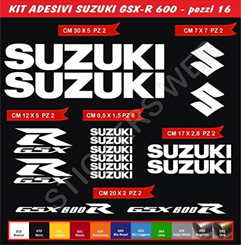 Pimastickerslab Stickers Suzuki GSX-R GSXR 600 Moto Decal Bike-Motorfiets Cod. 0643