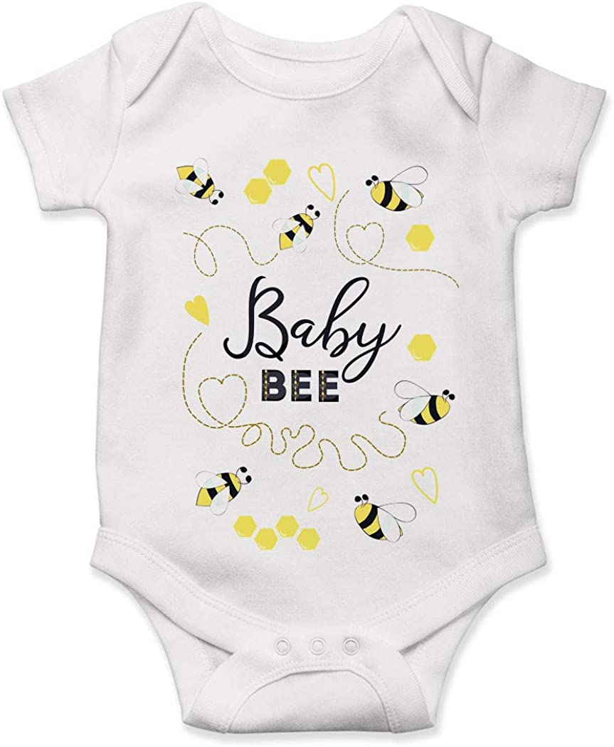 Lucky Star Bee Bumble Cute Baby Bodysuit Spring Time Gift New Mom Infant Boy Girl Shower Gender Reveal Buzz Honey Comb