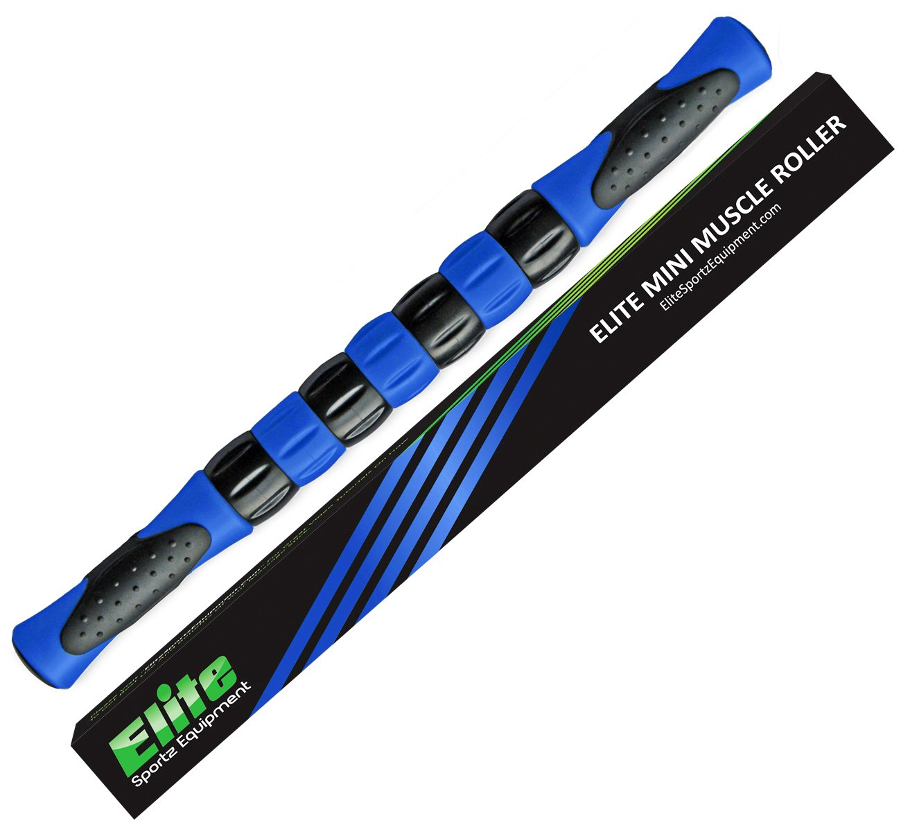 Elite Massage Muscle Roller Stick for Runners - Fast Muscle Relief from Sore and Tight Leg Muscles and Cramping. Five Bright Colors to Choose From.