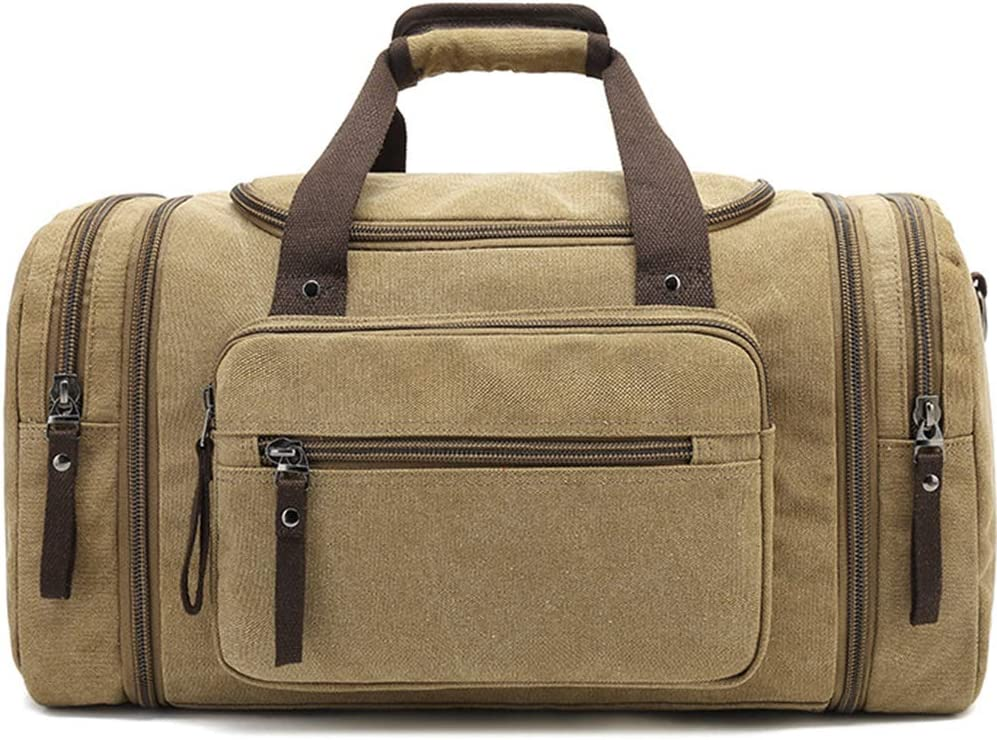 SHUAIJIE,Duffle Bag,Leather Weekend Bag,Carry On Travel Bag,Luggage Oversized Holdalls For Men /& Women