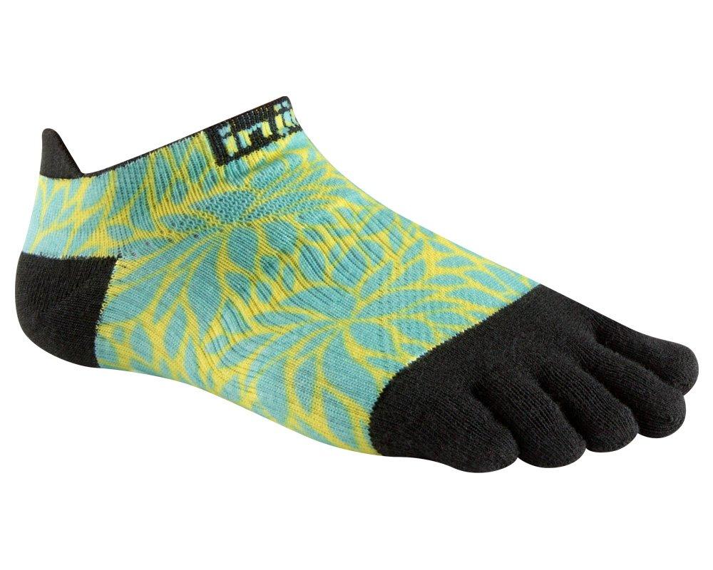 Injinji Women's Run Lightweight No-Show Socks (X-Small/Small, Fern)