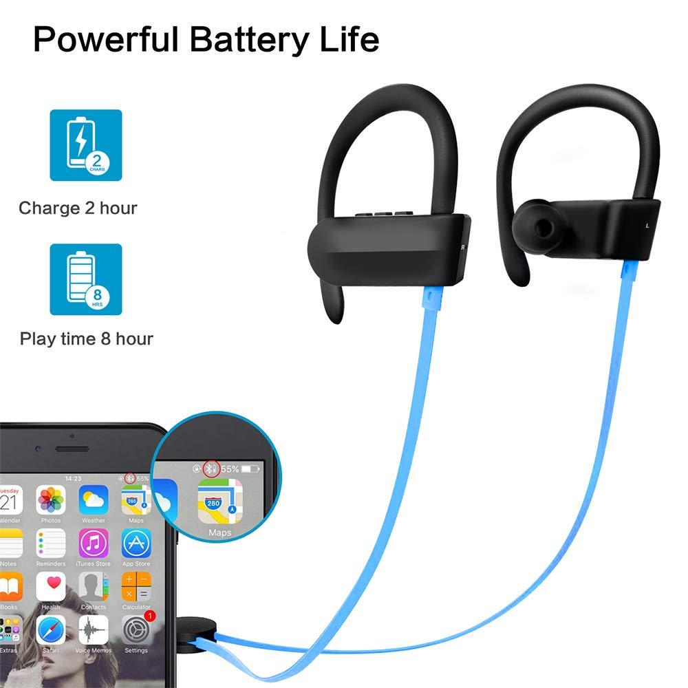 Hoidokly Auriculares Bluetooth 4.1 Cascos Inalámbricos Deportivos con Micrófono, reducción de Ruido, IPX5 Impermeable, Sonido Estéreo, Auricular para movil ...