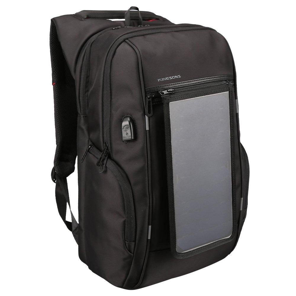 Vergeania 旅行ラップトップバックパック、ビジネス盗難防止スリム丈夫なラップトップのUSB充電ポート付きバックパック、女性と男性用の防水カレッジスクールコンピュータバッグ15.6インチのラップトップとノート防水バックパックノートブックバックパック (色 : 黒, サイズ : 17inch) 17inch 黒 B07RVHYMX8