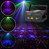 SUNY Laser Lights 12 Gobos in Blue Red Laser Light Green Stars Mixed Effect Stage Lighting Party Music Laser Projector Remote Control Sound Activated Dance Home Decoration Xmas Holiday DJ Light Show