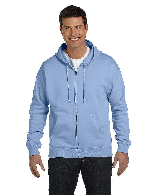 Adult ComfortBlend EcoSmart Full Zip Hoodie Pullover, Hellblau, X-Large