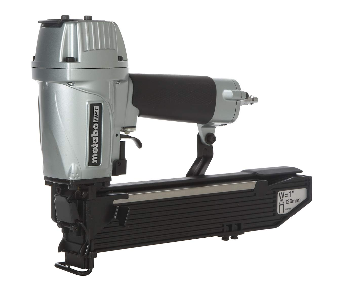 Metabo HPT N5024A2 Pneumatic 1'' Wide Crown Stapler, 16 Gauge, 1''Up To 2'' Staples, High Capacity Magazine, Tool-LESS Depth Adjustment, Quick-Clear Nose, 5-Year Warranty