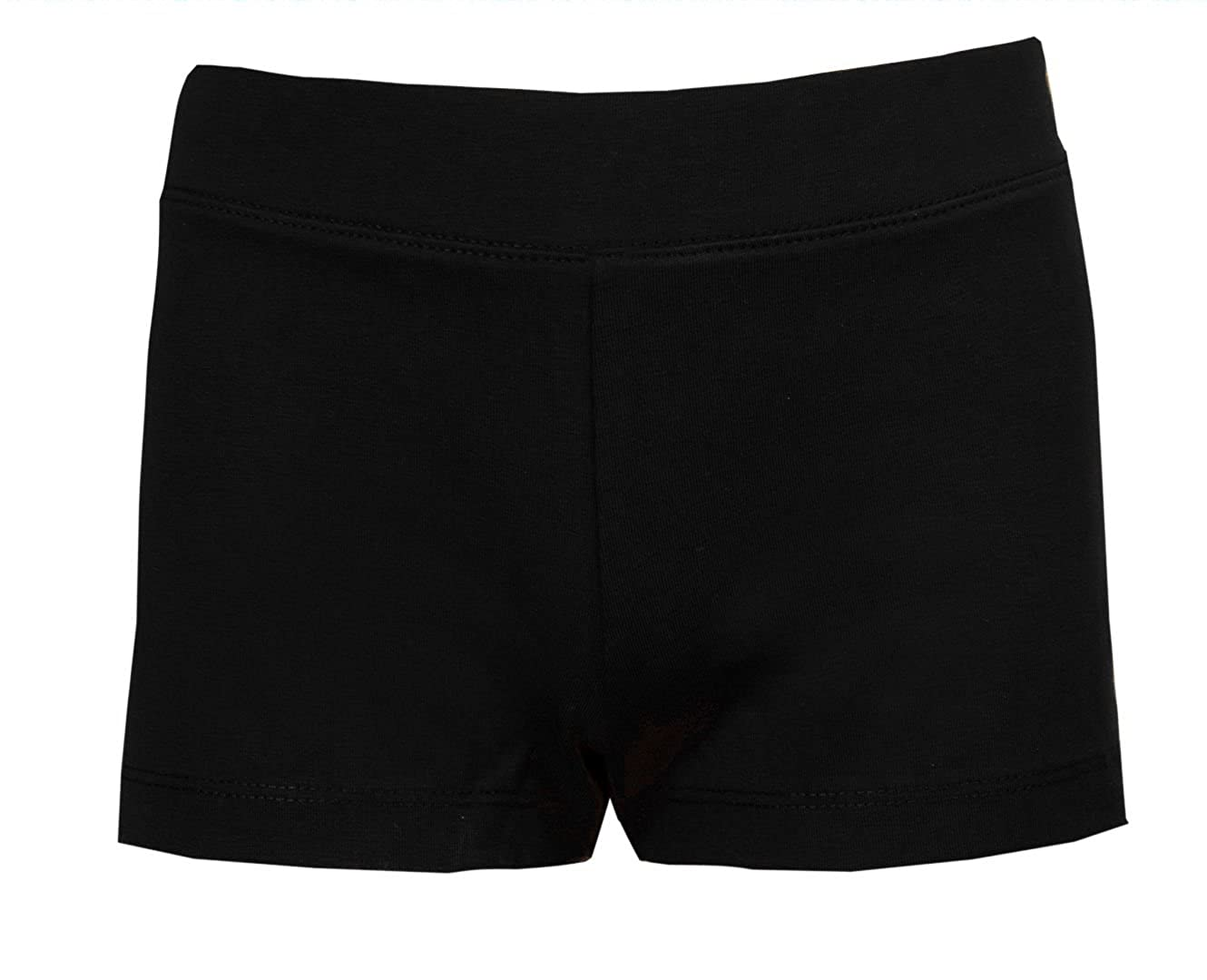 Childrens Cycle Shorts Girls Dance Exercise Cycling Pants Micro Ballet Stretch Running Irish Dancing Shorts Hot Pants Black