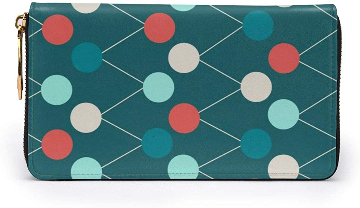 Abstract Seamless Background Vector Illustration Leather Zipper Clutch Bag Wallet Large Capacity Long Purse For Women Personalized