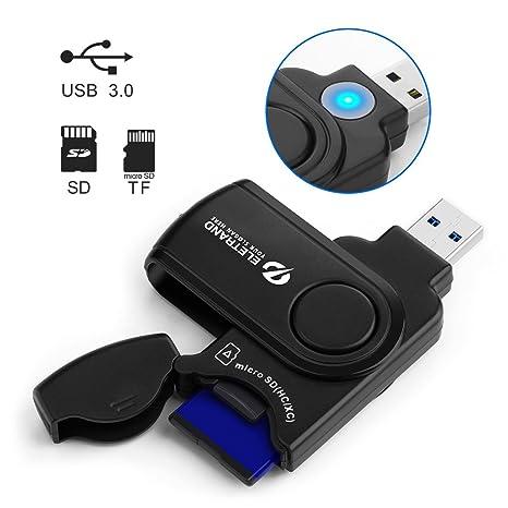 Eletrand USB 3.0 SD/Micro SD Lector de Tarjetas Card Reader para ...