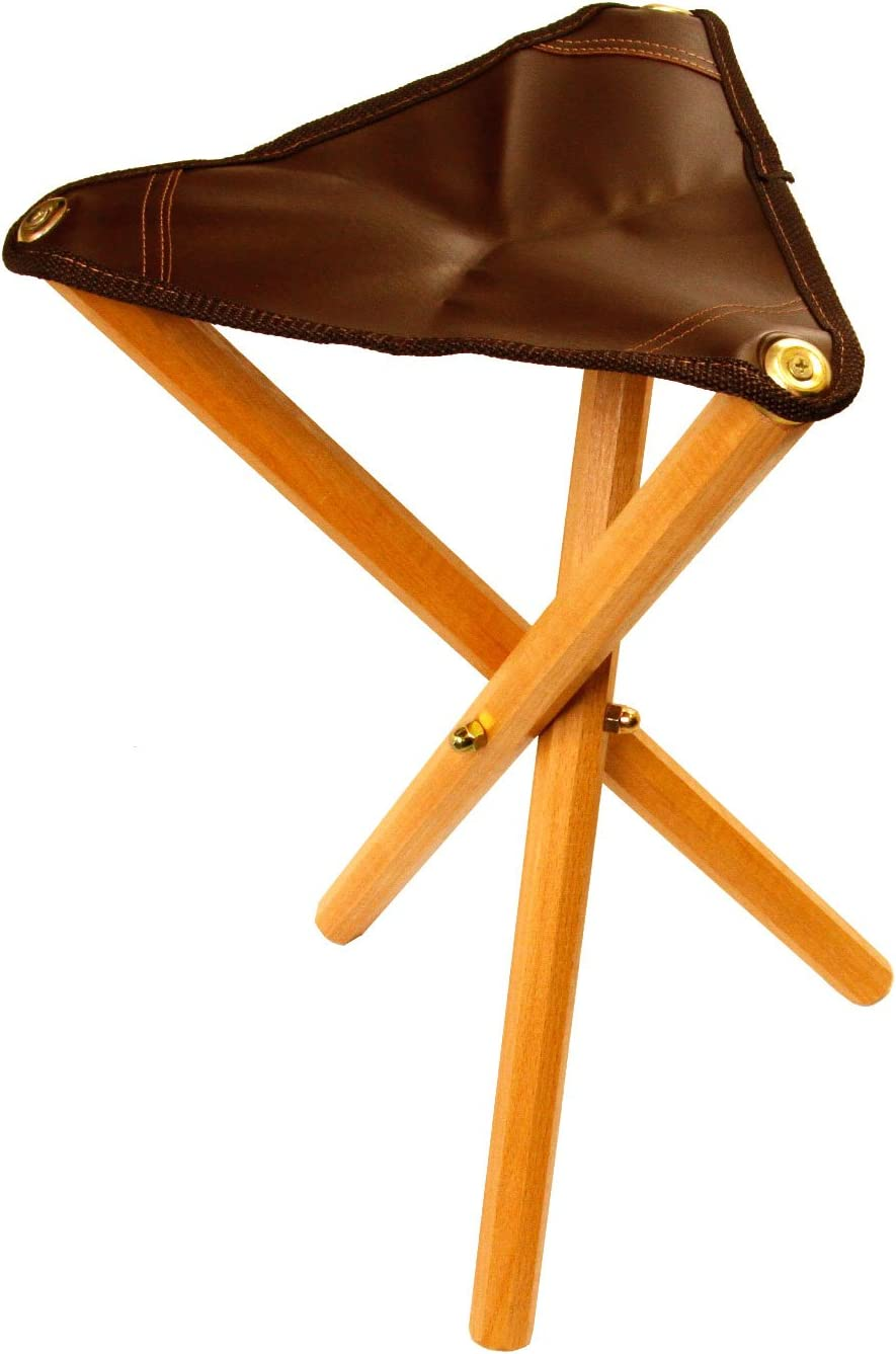 Shop Artist Folding Stool with Saddle Leather Seat from Amazon on Openhaus