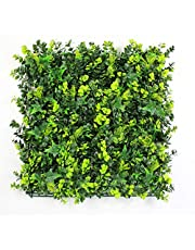 """ULAND 12Pcs Pack 20"""" by 20"""" Size Artificial Faux Hedges DIY Panels, Boxwood Greenery Ivy Privacy Fence Landscaping Screening Green Wall, for Home Garden Balcony Outdoor Indoor Decoration"""